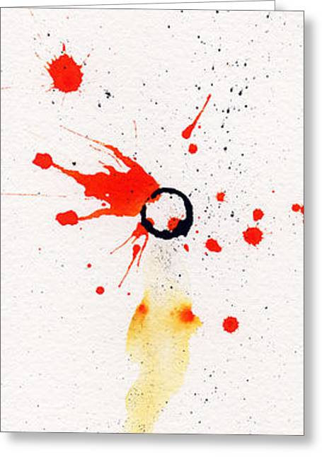 Ink Greeting Cards - The Inexplicable Ignition Of Time Expanding Into Free Space Phase Two Number 17 Greeting Card by Mark M  Mellon