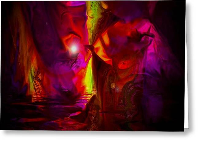 Cavern Greeting Cards - The Inner Glow Greeting Card by Julie  Grace