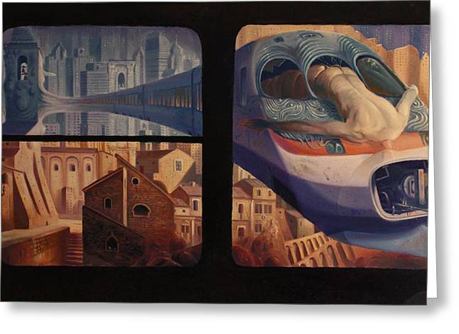 Hallucination Greeting Cards - The Insomnia of Nimrod Greeting Card by Alessandro Fantini