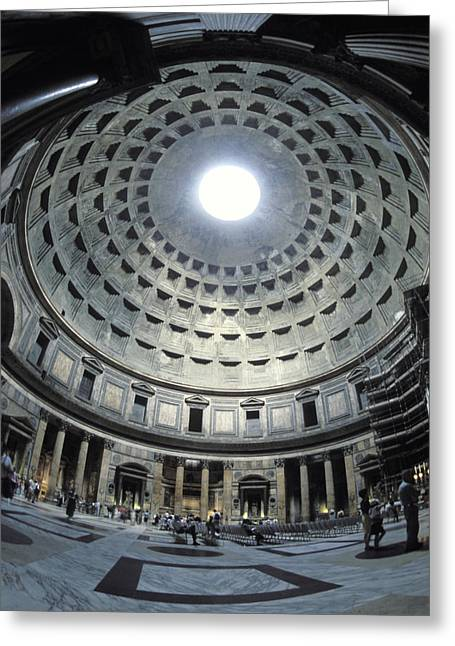 Large Scale Greeting Cards - The Interior Of The Pantheon Greeting Card by Richard Nowitz