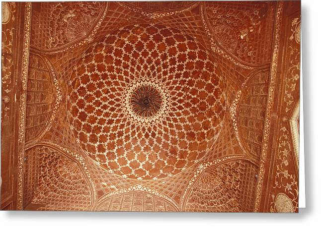 Stone Carving Greeting Cards - The Intricate Inlay And Carving Greeting Card by Jason Edwards