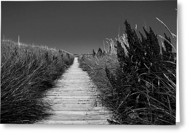 Michel Soucy Greeting Cards - The Inverness Boardwalk Greeting Card by Michel Soucy