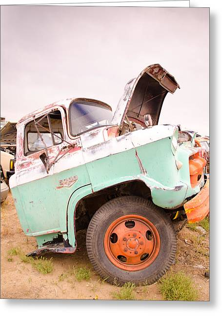 Flux Photography Studios Greeting Cards - The Iron Boneyard 10 Greeting Card by Matthew Angelo