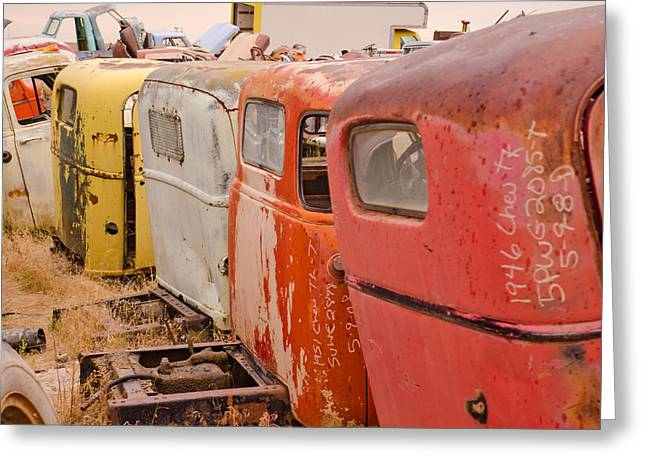 Flux Photography Studios Greeting Cards - The Iron Boneyard 9 Greeting Card by Matthew Angelo