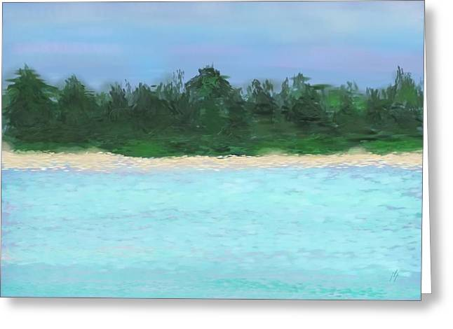 The Island Greeting Card by Janet Palaggi