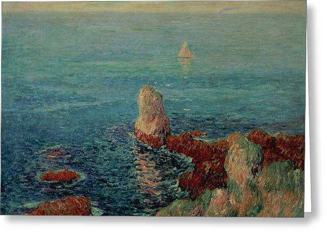 Moret Greeting Cards - The Island of Groix Greeting Card by Henry Moret