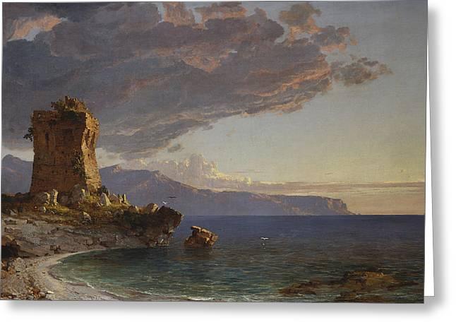 The Isle of Capri Greeting Card by Jasper Francis Cropsey