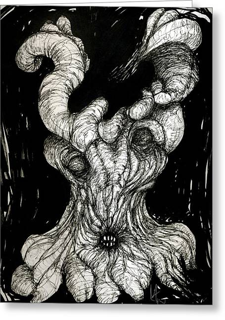 Ink Drawing Greeting Cards - The Itch Greeting Card by Mark M  Mellon