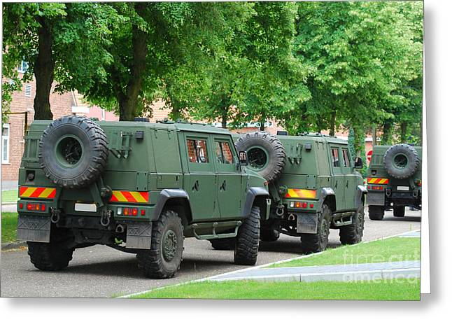 Component Greeting Cards - The Iveco Lmv Of The Belgian Army Greeting Card by Luc De Jaeger