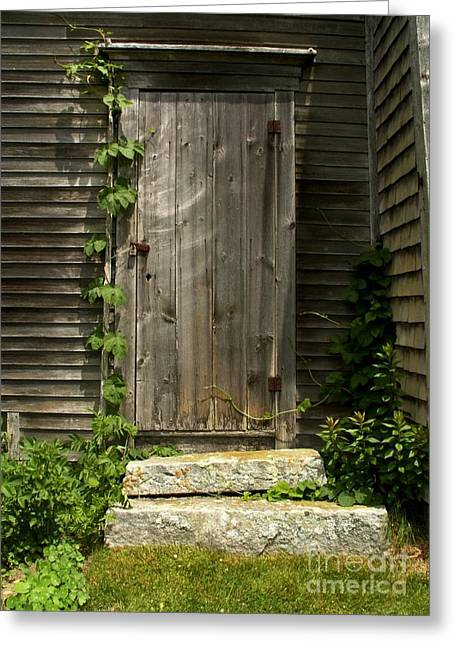 Old Maine Houses Greeting Cards - The Ivied Door Greeting Card by Theresa Willingham
