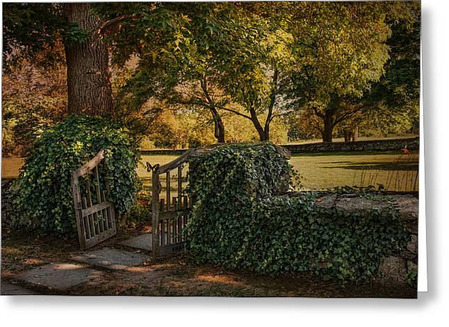 Stonewall Greeting Cards - The Ivy Gate Greeting Card by Robin-lee Vieira