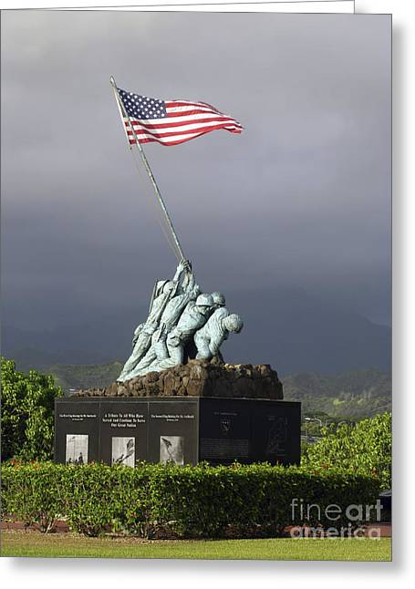 Figure Based Greeting Cards - The Iwo Jima Statue Greeting Card by Michael Wood