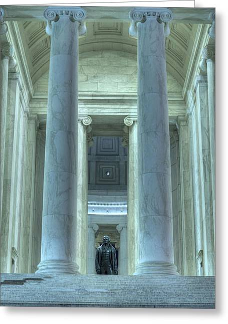 Jefferson Greeting Cards - The Jefferson Greeting Card by JC Findley