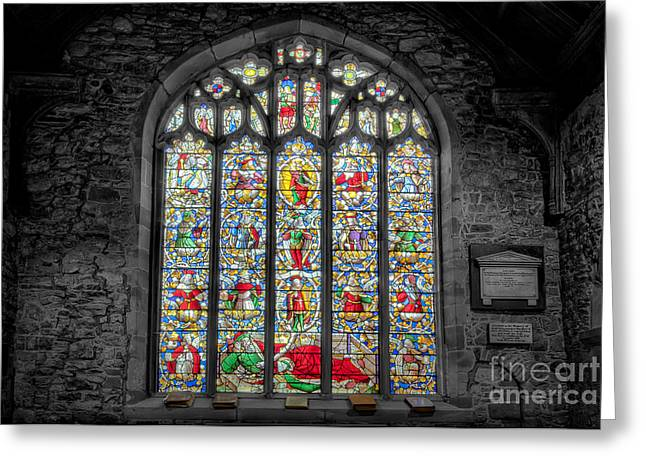 Historic Architecture Digital Art Greeting Cards - The Jesse Window  Greeting Card by Adrian Evans