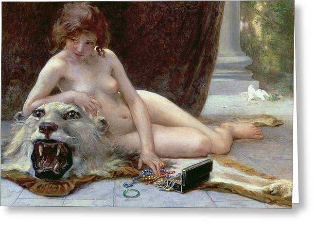 Woman Nude Greeting Cards - The Jewel Case Greeting Card by Guillaume Seignac