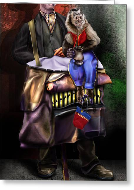 Old Grinders Paintings Greeting Cards - The Job Creator Greeting Card by Reggie Duffie