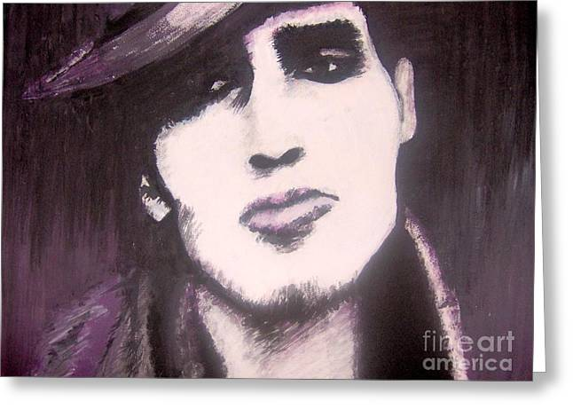 Red Hot Chili Peppers Greeting Cards - The John Frusciante Portrait Greeting Card by Dora Szabolcsi