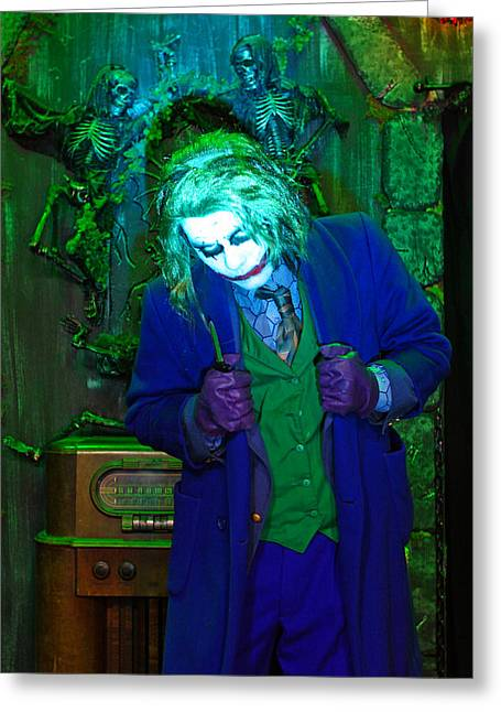 By Humans Greeting Cards - The Joker, At 13 Ghosts, Americas Greeting Card by Steve And Donna O
