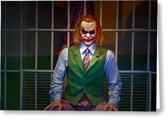 Ledger; Book Photographs Greeting Cards - The Joker Greeting Card by Cyryn Fyrcyd
