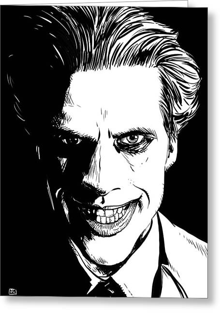 Villain Greeting Cards - The Joker Greeting Card by Giuseppe Cristiano