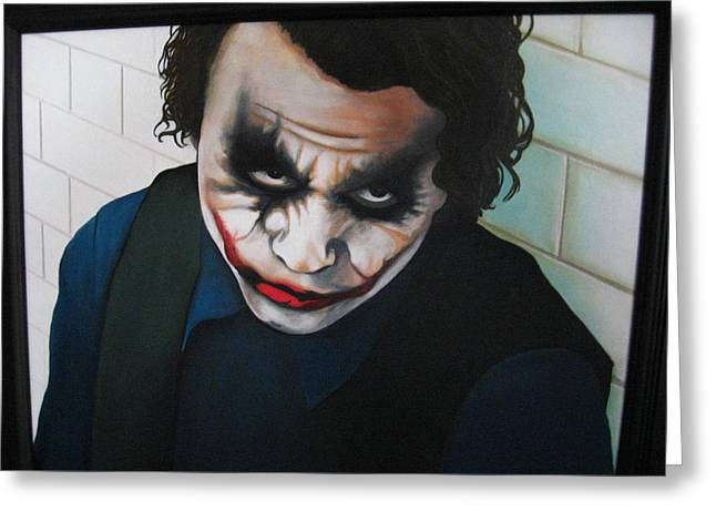 The Joker Greeting Card by Jackie Davenport