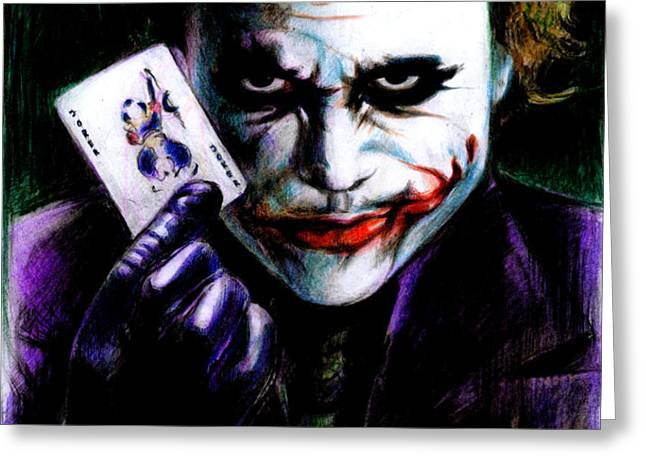 The Joker Greeting Card by Lin Petershagen