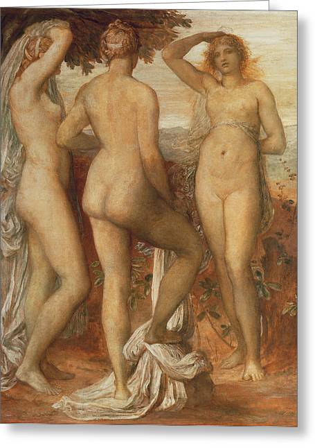 Ancient Greece Greeting Cards - The Judgement of Paris Greeting Card by George Frederic Watts