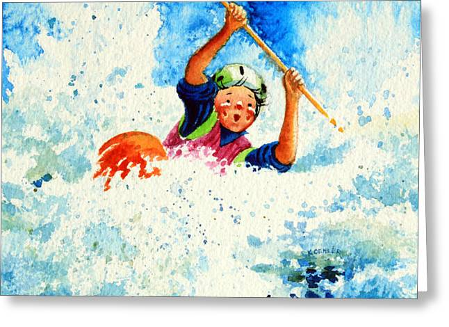 The Kayak Racer 16 Greeting Card by Hanne Lore Koehler