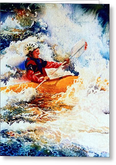 The Kayak Racer 19 Greeting Card by Hanne Lore Koehler