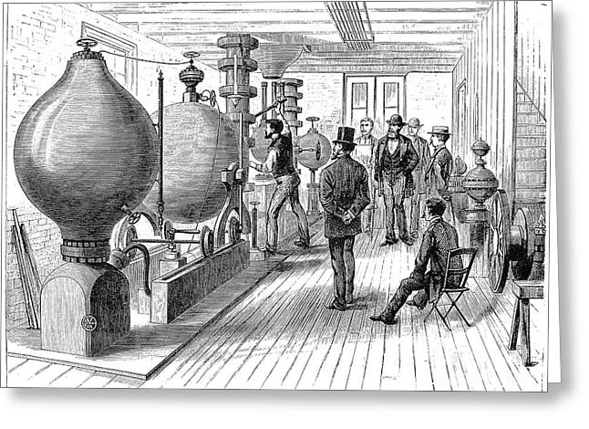 Perpetual Motion Greeting Cards - The Keely Motor, 1877 Greeting Card by Granger