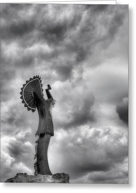 Keeper Of The Plains Greeting Cards - The Keeper Greeting Card by JC Findley