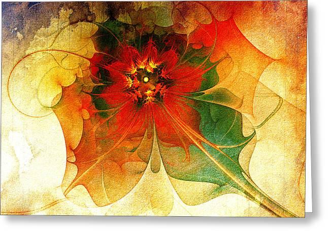 Floral Digital Art Greeting Cards - The Keepsake Greeting Card by Amanda Moore