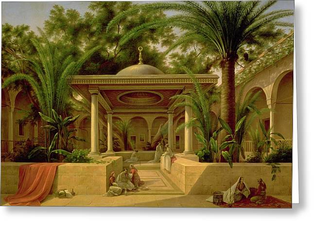 Domes Greeting Cards - The Khabanija Fountain in Cairo Greeting Card by Grigory Tchernezov