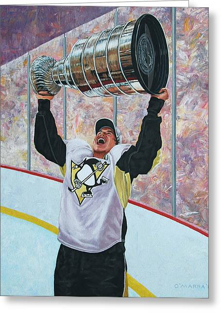 Sid The Kid Greeting Cards - The Kid and the Cup Greeting Card by Allan OMarra