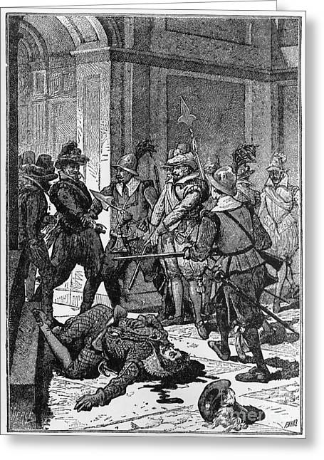 Gonzalez Greeting Cards - The Killing Of Pizarro, 1541 Greeting Card by Photo Researchers