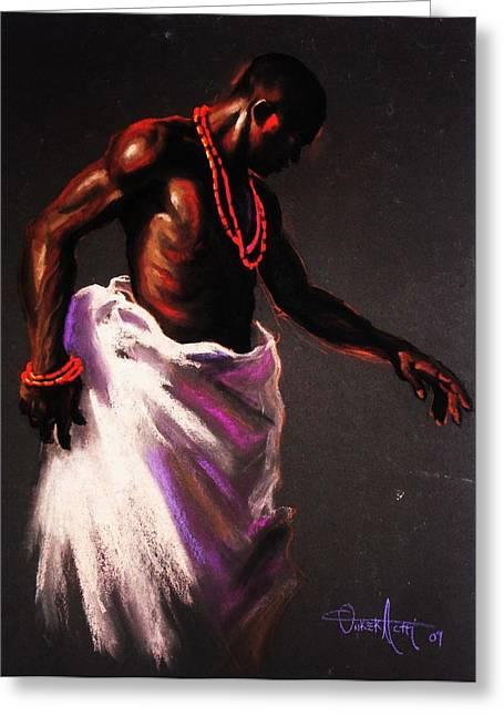 Beaded Pastels Greeting Cards - The king Greeting Card by Aderonke Adetunji