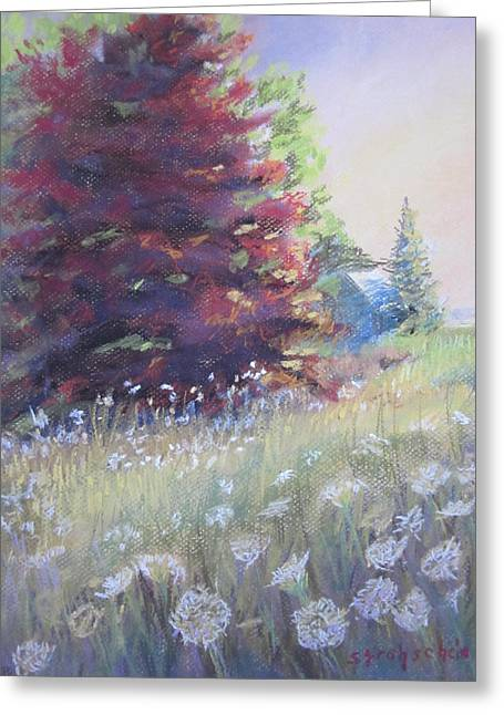 Weed Pastels Greeting Cards - The King and Queen Greeting Card by Sandra Strohschein