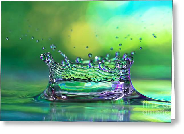 Abstract Rain Greeting Cards - The Kings Crown Greeting Card by Darren Fisher