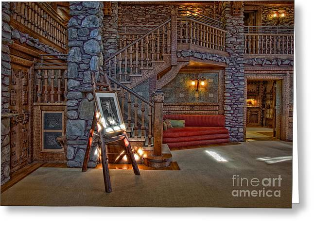 The King's Living Room Greeting Card by Susan Candelario