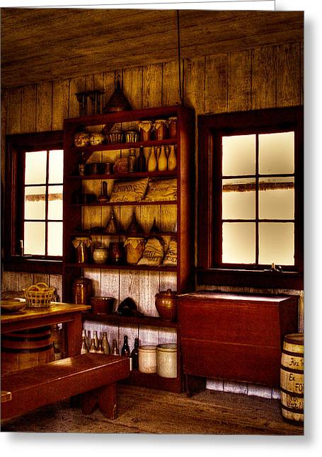 Stockade Greeting Cards - The Kitchen Greeting Card by David Patterson