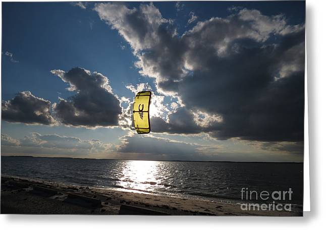 Kiteboarding Greeting Cards - The kite Greeting Card by Rrrose Pix