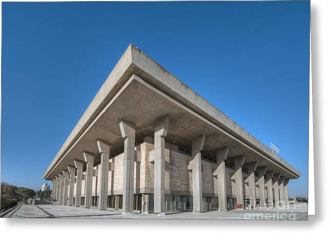 Seat Of Power Greeting Cards - The Knesset Greeting Card by Noam Armonn