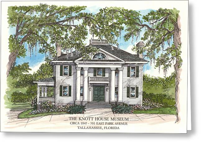 The Knott House Circa 1843 Greeting Card by Audrey Peaty
