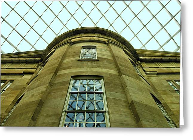 D.w Greeting Cards - The Kogod Courtyard II Greeting Card by Steven Ainsworth