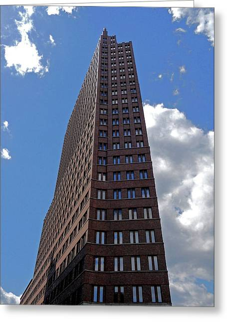 Fenster Photographs Greeting Cards - The Kollhoff-Tower ...  Greeting Card by Juergen Weiss