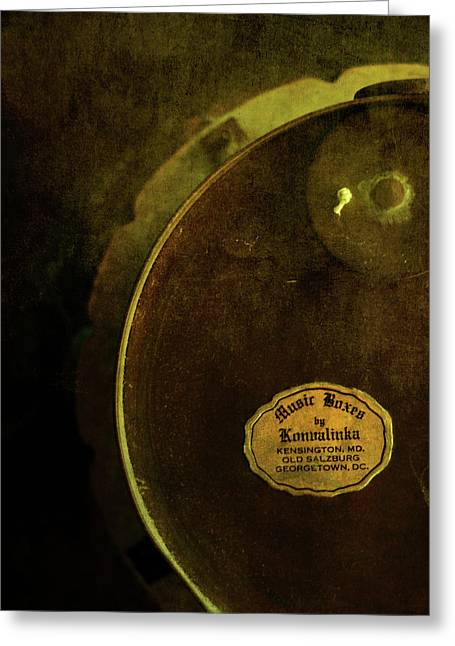 Behind The Scenes Photographs Greeting Cards - The Konvalinka Music Box Greeting Card by Rebecca Sherman