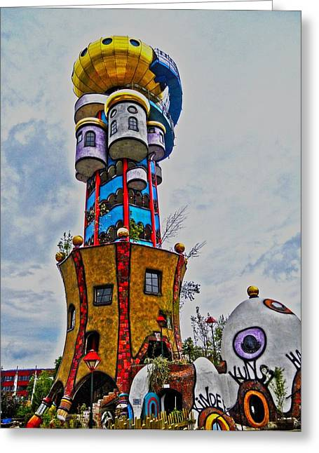Bier Greeting Cards - The Kuchlbauer Tower Greeting Card by Juergen Weiss