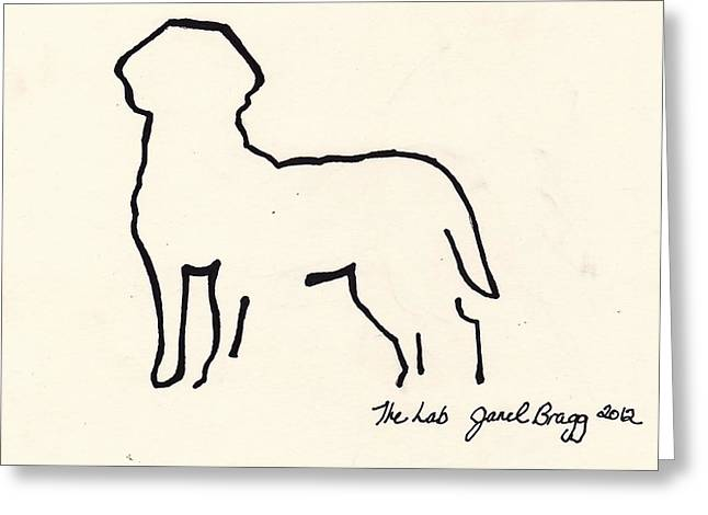 Puppies Mixed Media Greeting Cards - The Lab Greeting Card by Janel Bragg