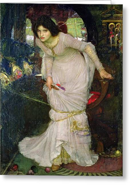 Pre-raphaelite Greeting Cards - The Lady of Shalott Greeting Card by John William Waterhouse