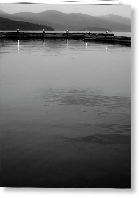 The Lake At Dusk Greeting Card by David Patterson